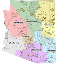 Map of Reservation Land by District